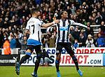 Ayoze Perez of celebrates with Georgina Wijnaldum of Newcastle United - English Premier League - Newcastle Utd vs Liverpool - St James' Park - Newcastle - England - 6th of December 2015 - Picture Jamie Tyerman/Sportimage