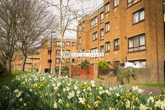 Social housing, London Borough of Haringey, London UK