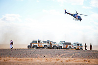 6th January 2020, Al Wajh to Neom, Saudi Arabia;  Safety and photographic helicopter and SUV's during Stage 2 of the Dakar 2020 between Al Wajh and Neom, 401 km - Editorial Use