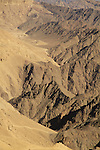 Israel, Eilat Mountains, the line between Mount Yehoram and Mount Shlomo