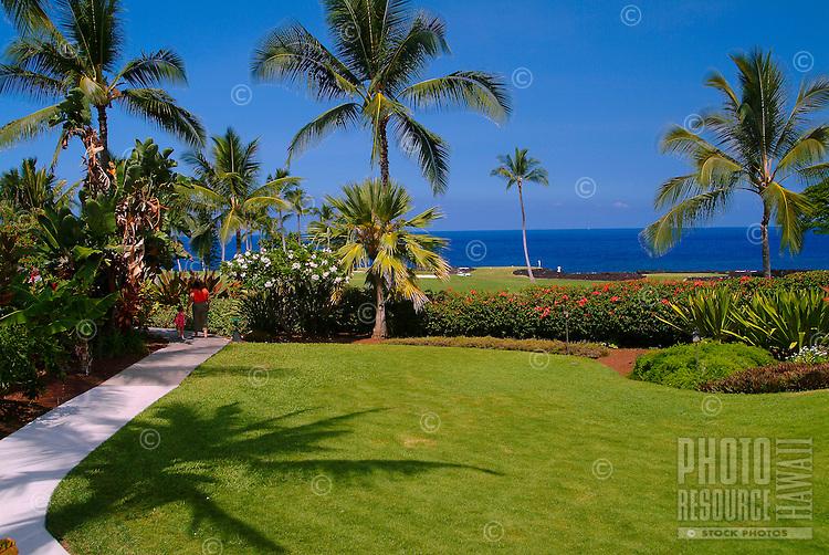 Grounds of the Kona coast resort at Keauhou, just south of Kona on the Big island