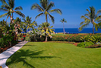 Grounds of the Kona coast resort at Keauhou, just south of Kona on the Big island