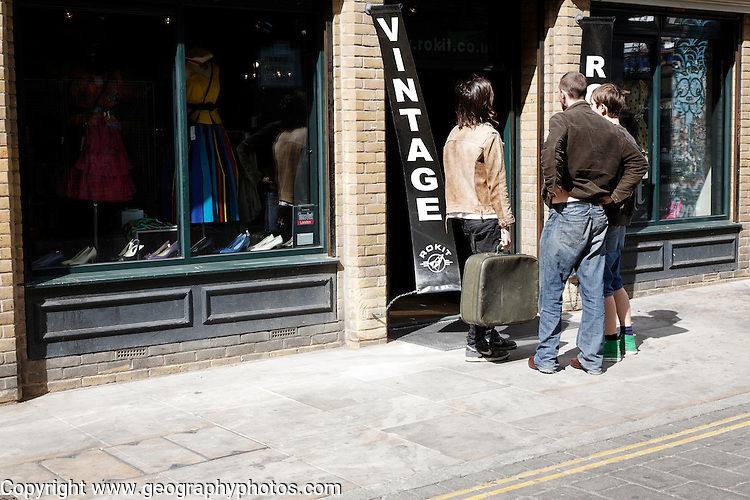 Vintage clothes shop, Brick Lane, London