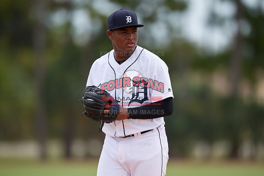 Detroit Tigers pitcher Sandel De La Cruz (68) during an Instructional League instrasquad game on September 20, 2019 at Tigertown in Lakeland, Florida.  (Mike Janes/Four Seam Images)