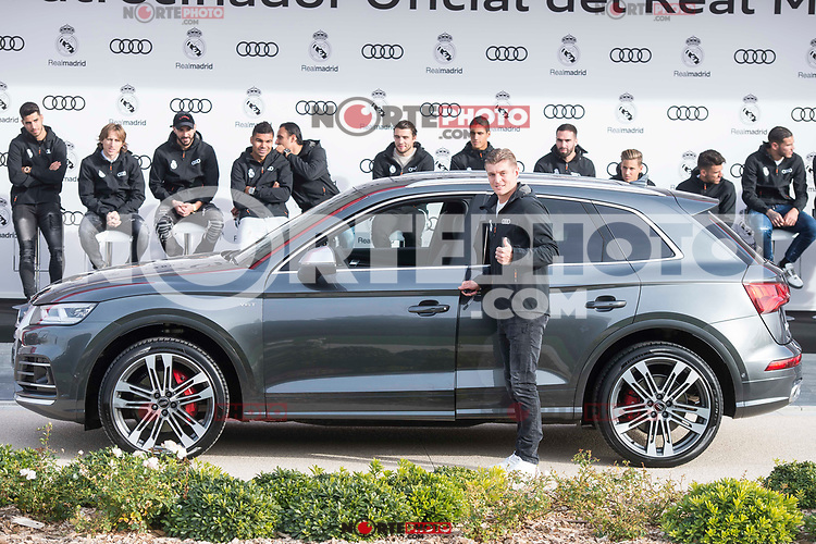 Toni Kroos of Real Madrid CF poses for a photograph after being presented with a new Audi car as part of an ongoing sponsorship deal with Real Madrid at their Ciudad Deportivo training grounds in Madrid, Spain. November 23, 2017. (ALTERPHOTOS/Borja B.Hojas) /NortePhoto.com NORTEPHOTOMEXICO