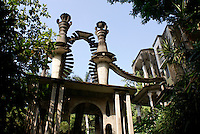 Stairaway to the Sky at Las Pozas, the surrealistic sculpture garden created by Edward James  near Xilitla, Mexico