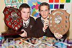 TOP OF THE CLASS: Michael Collins (Abbeyfeale) and Thomas McCarthy (Mountcollins) who were presented with their Student of the Year Awards at the Abbeyfeale Vocational School Awards Night on Thursday last.