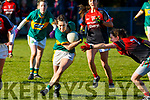 Action from Kerry v Mayo in the Lidl Ladies National football league game in Brosna on Sunday last.