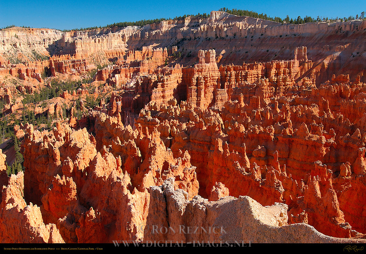 Sunset Point Hoodoos and Inspiration Point at Sunset, Bryce Canyon National Park, Utah