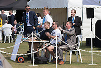 The scorers applaud action from the colts game prior to Upminster CC vs Essex CCC, Benefit Match Cricket at Upminster Park on 8th September 2019