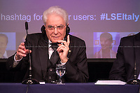 28.05.2015 - LSE Presents: Sergio Mattarella, President of the Italian Republic