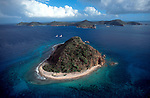 British Virgin Islands, Aerial image of  The Indians, a small uninhabited island off Norman Island in the Caribbean Sea,
