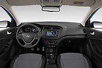 Stock photo of straight dashboard view of 2020 Hyundai i20-Active Active 5 Door Hatchback Dashboard