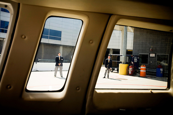 Started in March of 2006, US Helicopter is now running several daily taxi services to JFK airport for $160 each way. Overseen by both the Port Authority and TSA due to concerns over security procedures, US Helicopter has seen its business steadily grow since its induction.. Landing pad  security at JFK.