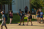Students help each other find their way.  Photo by Kevin Bain/Ole Miss Communications