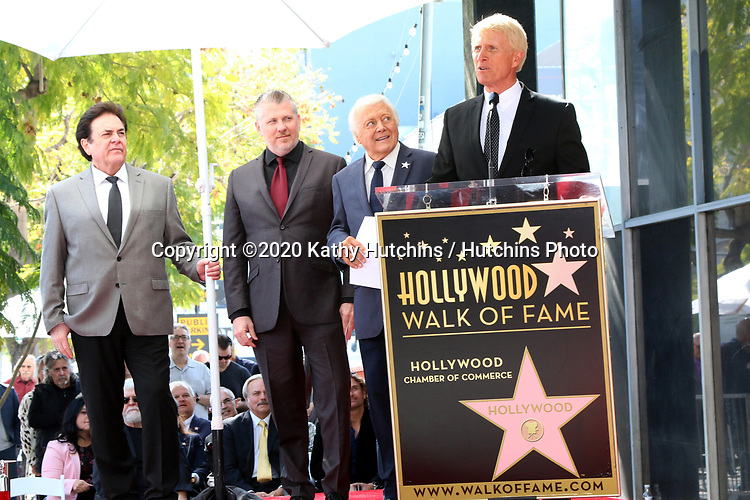 LOS ANGELES - FEB 24:  Bobby Poynton, Rob Gulack, Tony Butala, Donovan Tea at the The Lettermen Star Ceremony on the Hollywood Walk of Fame on February 24, 2019 in Los Angeles, CA