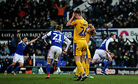 Wigan Athletic's Callum Connolly disappointed at letting Ipswich Town's Freddie Sears scores his side's first goal   <br /> <br /> Photographer Hannah Fountain/CameraSport<br /> <br /> The EFL Sky Bet Championship - Ipswich Town v Wigan Athletic - Saturday 15th December 2018 - Portman Road - Ipswich<br /> <br /> World Copyright &copy; 2018 CameraSport. All rights reserved. 43 Linden Ave. Countesthorpe. Leicester. England. LE8 5PG - Tel: +44 (0) 116 277 4147 - admin@camerasport.com - www.camerasport.com