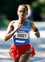 Atalelech Ketema of the Westchester Track Ckub won the 8k(5 miles) race in a time of 27:59sec. at the New York Road Runners Team Championship race that was held at Central Park,New York City on Saturday August 18th. 2007. Photo by Errol Anderson.