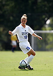 Rebecca Moros, of Duke, on Sunday September 18th, 2005 at Koskinen Stadium in Durham, North Carolina. The Duke University Blue Devils defeated the University of San Diego Toreros 5-0 during the Duke adidas Classic soccer tournament.