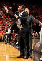 Virginia associate head coach Richie McKay during the game Saturday, February 22, 2014,  in Charlottesville, VA. Virginia won 70-49.