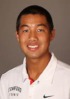 STANFORD, CA - NOVEMBER 16:  Denis Lin of the Stanford Cardinal during men's tennis picture day on November 16, 2009 in Stanford, California.