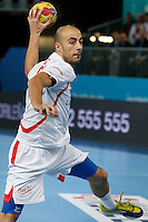 17.01.2013 World Championshio Handball. Match between Spain vs Hungray at the stadium La Caja Magica. The picture show  Albert Rocas Comas (Right Wing of Spain)