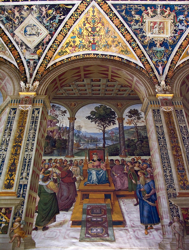 Frescoes of the Piccolomini Library in the Duomo, Siena, Ital
