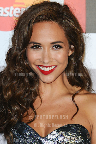Myleene Klass arriving for the Classic Brit Awards 2012 at the Royal Albert Hall, London. 02/10/2012 Picture by: Steve Vas / Featureflash