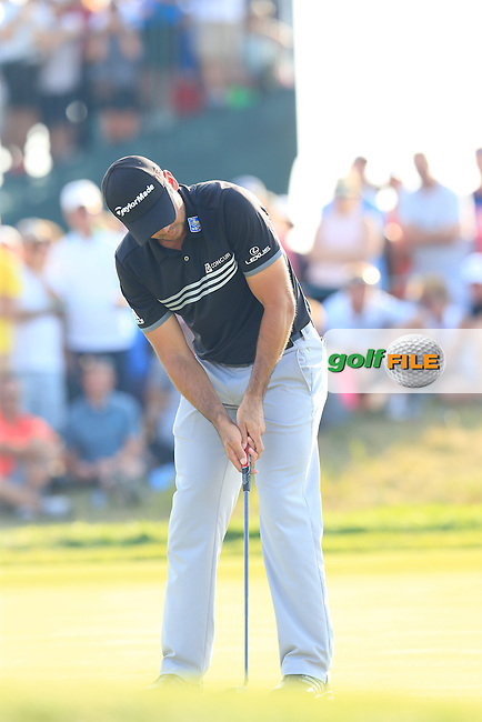 Jason DAY (AUS) takes his putt on the 15th green during Sunday's Final Round of the 97th US PGA Championship 2015 held at Whistling Straits, Mosel, Kohler, Wisconsin, United States of America. 16/08/2015.<br /> Picture Eoin Clarke, www.golffile.ie