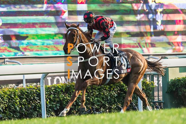 Jockey Zac Purton riding Time Warp #9 wins the Longines Hong Kong Cup (G1, 2000m) during the Longines Hong Kong International Races at Sha Tin Racecourse on December 10 2017, in Hong Kong, Hong Kong. Photo by Victor Fraile / Power Sport Images