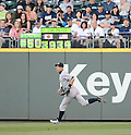 Ichiro Suzuki (Yankees),<br /> JUNE 6, 2013 - MLB :<br /> Ichiro Suzuki of the New York Yankees runs in front of &quot;Ichi-Meter&quot; during the Major League Baseball game against the Seattle Mariners at Safeco Field in Seattle, Washington, United States. (Photo by AFLO)