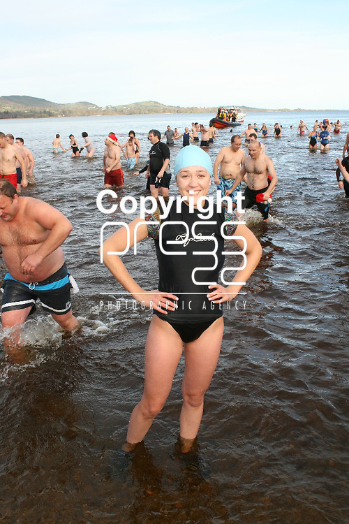 Joanne Dillon at the Christmas day swim at Killaloe, Co Clare. Picture: Marie McCallan /Press 22