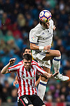 Pepe of Real Madrid competes for the ball with Mikel San Jose Dominguez of Athletic Club during their La Liga match between Real Madrid and Athletic Club at the Santiago Bernabeu Stadium on 23 October 2016 in Madrid, Spain. Photo by Diego Gonzalez Souto / Power Sport Images