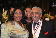 September 24, 2011  (Washington, DC)   Phoenix Awards winner Representative Charles Rangel (D-NY) (right) posses for a picture after the Phoenix Awards Dinner at the Convention Center in Washington, DC.  The Phoenix Award is given to individuals that positively impact the African-American experience.  The Dinner concluded a week-long series of activities and panel discussions during the 41st Annual Legislative Conference of the Congressional Black Caucus Foundation.   (Photo by Don Baxter/Media Images International)