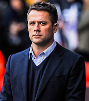 BT Sports Michael Owen during the International Euro U21 Qualification match between England U21 and Ukraine U21 at Bramall Lane, Sheffield, England on 27 March 2018. Photo by Stephen Buckley / PRiME Media Images.