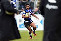 Ben Tapuai of Bath Rugby runs in a try in the second half. Aviva Premiership match, between Bath Rugby and Worcester Warriors on October 7, 2017 at the Recreation Ground in Bath, England. Photo by: Patrick Khachfe / Onside Images