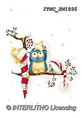Marcello, CHRISTMAS ANIMALS, WEIHNACHTEN TIERE, NAVIDAD ANIMALES, paintings+++++,ITMCXM1895,#XA# ,owls