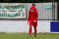 Frustration for Tommy Bradford of Carshalton during Heybridge Swifts vs Carshalton Athletic, FA Trophy Football at The Aspen Waite Arena on 7th October 2017
