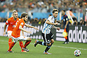 (L-R) Wesley Sneijder, Daley Blind (NED), Lucas Biglia (ARG),<br /> JULY 9, 2014 - Football / Soccer :<br /> FIFA World Cup 2014 semi-final match between Netherlands 0(2-4)0 Argentina at Arena De Sao Paulo Stadium in Sao Paulo, Brazil. (Photo by AFLO) [3604]