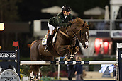 29th September 2017, Real Club de Polo de Barcelona, Barcelona, Spain; Longines FEI Nations Cup, Jumping Final; VENISS Pedro (BRA) riding Quabri de L'Isle the final of the Nations Cup