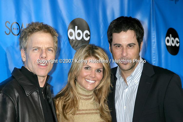 Greg Germann, Lori Loughlin, and Jonathan Silverman.ABC Television Critics Association Press Tour Party.Ritz-Carlton Hotel.Pasadena   CA.January 14, 2007.©2007 Kathy Hutchins / Hutchins Photo.