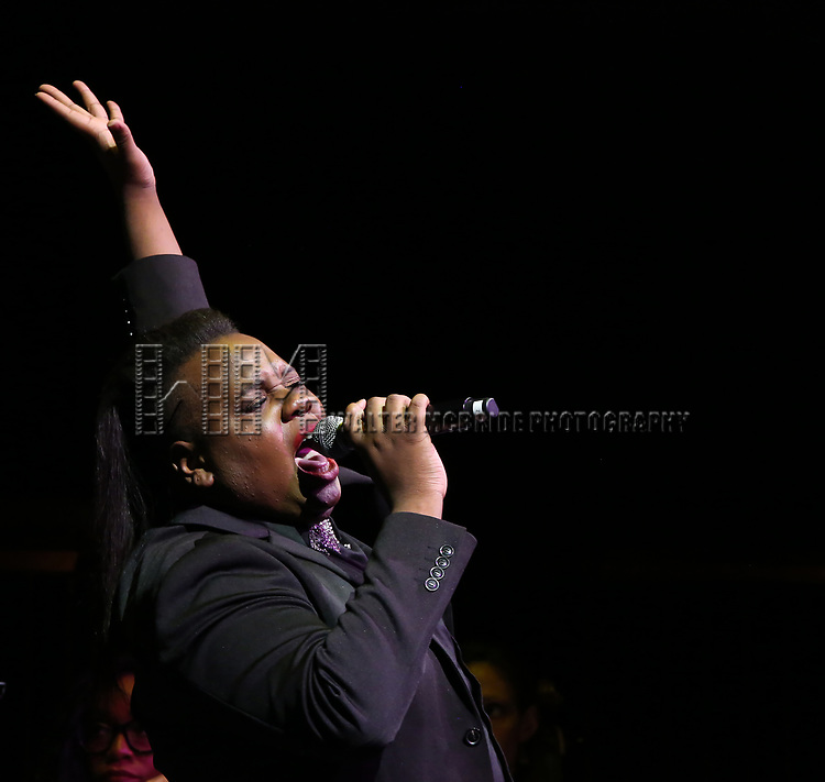 Alex Newell on stage at the  2017 Dramatists Guild Foundation Gala presentation at Gotham Hall on November 6, 2017 in New York City.