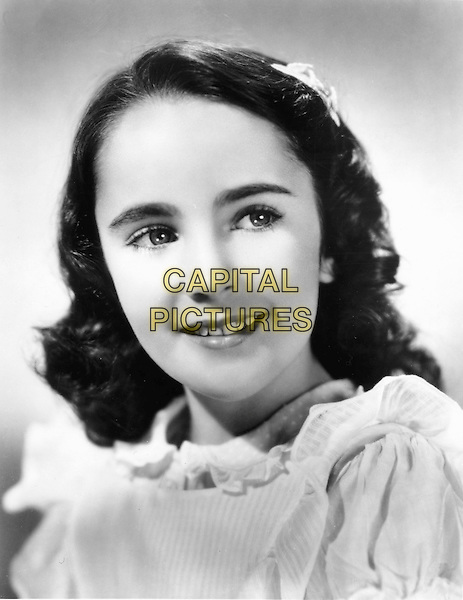 ELIZABETH TAYLOR.headshot portrait child young.*Editorial Use Only*.CAP/STF/PEL.Supplied by Capital Pictures.