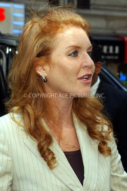 WWW.ACEPIXS.COM . . . . . ....NEW YORK, NEW YORK, JUNE 20TH 2005....Sarah Ferguson at the unveiling of the 'Duchess of York' chicken sandwich at Stage Deli.....Please byline: KRISTIN CALLAHAN - ACE PICTURES.. . . . . . ..Ace Pictures, Inc:  ..Craig Ashby (212) 243-8787..e-mail: picturedesk@acepixs.com..web: http://www.acepixs.com