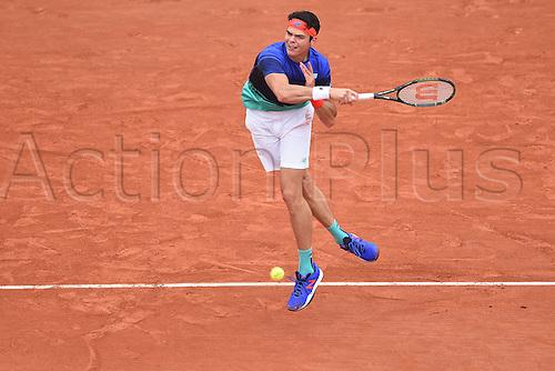 29.05.2016. Stade Roland Garros, Paris, France. Roland Garros French Open Tennis Day 8.  Milos Raonic (Can)