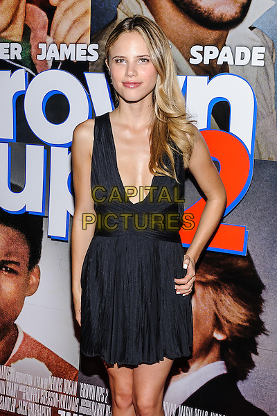Halston Sage<br /> &quot;Grown Ups 2&quot; New York Premiere, New York, New York, USA, <br /> 10th July 2013.<br /> half length black dress low cut cleavage hand on hip cleavage plunging neckline <br /> CAP/ADM/MSA<br /> &copy;Mario Santoro/AdMedia/Capital Pictures