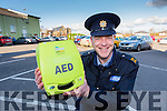 Killorglin Garda Paul Ruby who saved a mans life by using the defibilator in Fair Field car park on Tuesday