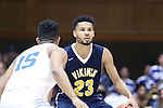 04 November 2016: Augustana's Jordan Spencer (ENG) (23)  and Duke's Frank Jackson (15). The Duke University Blue Devils hosted the Augustana University Vikings at Cameron Indoor Stadium in Durham, North Carolina in a 2016-17 NCAA Division I Men's Basketball exhibition game.