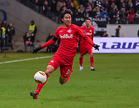 Masaya Okugawa (RB Salzburg, #37) - 20.02.2020: Eintracht Frankfurt vs. RB Salzburg, UEFA Europa League, Hinspiel Round of 32, Commerzbank Arena DISCLAIMER: DFL regulations prohibit any use of photographs as image sequences and/or quasi-video.