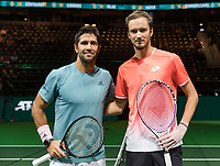 Rotterdam, The Netherlands, 14 Februari 2019, ABNAMRO World Tennis Tournament, Ahoy, Daniil Medvedev (RUS) - Fernando Verdasco (ESP),<br /> Photo: www.tennisimages.com/Henk Koster